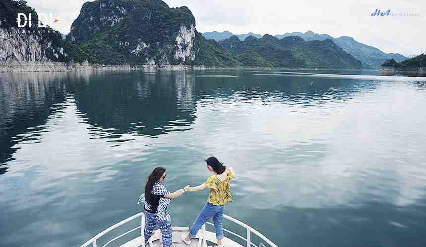 Thuê thuyền, đò du lịch Thung Nai Thác Bờ